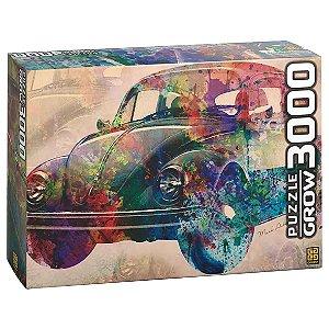 Quebra Cabeça Puzzle Vintage Car com 3000 Peças Grow 03462