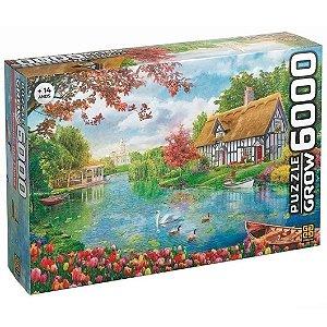 Quebra Cabeça Puzzle Recanto de Flores 6000 Peças Grow 03741