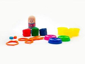 Brinquedo Massinha De Modelar Infantil Salão Maluco Polidoh