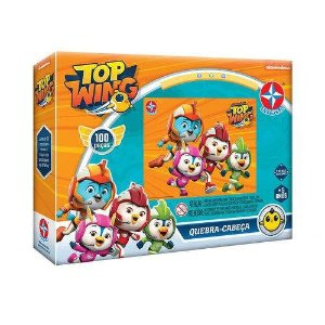 Brinquedo Quebra Cabeça Infantil Top Wing 100 Peças Estrela
