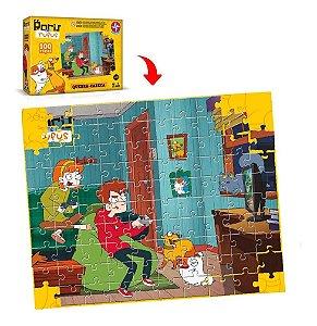 Brinquedo Novo Quebra Cabeça Boris E Rufus 100 Peças Estrela