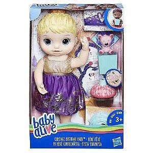 Brinquedo Boneca Baby Alive Aniversário Surpresa E0596