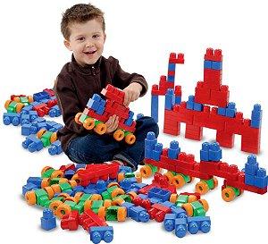 Brinquedo Super Caixa Divertida Blocos Montar Mk170 Dismat