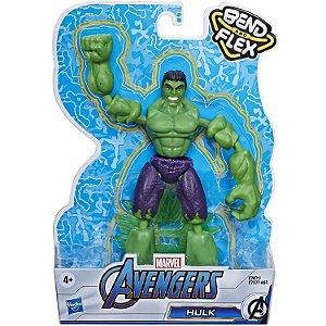 Boneco Marvel Vingadores Bend and Flex Hulk da Hasbro E7377
