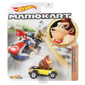 Hot Wheels Mario Kart Donkey Kong e Carro Sports Coupe Gbg25