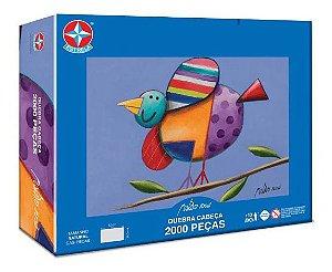 Novo Quebra Cabeça Pássaros Gustavo Rosa 2000 Peças Estrela