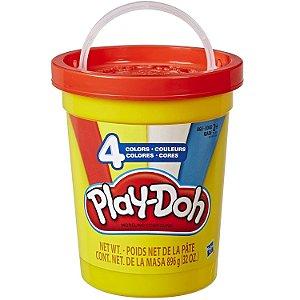 Massinha Play Doh Potao Super Pote de 4 Cores Sortidas E5045