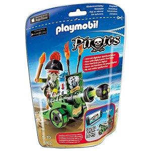Playmobil Piratas Soft Bags com Canhao Verde da Sunny 6162