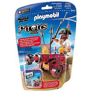 Playmobil Piratas Soft Bags com Canhao Vermelho Sunny 6163