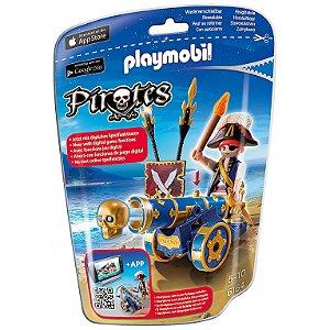 Playmobil Piratas Soft Bags com Canhao Azul da Sunny 6164