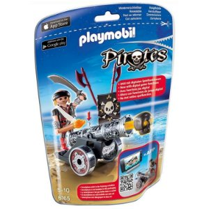 Playmobil Piratas Soft Bags com Canhao Cinza da Sunny 6165