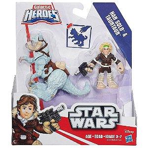 Figura Star Wars Galactic Han Solo e Tauntaun Hasbro B2033