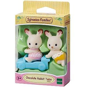 Sylvanian Families Figura Gemeos Coelho Chocolate Epoch 5420