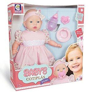 Boneca e Acessorios Bebe Babys Faz Pipi 44 cm Cotiplas 2068