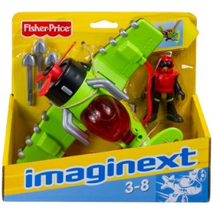 Figura Imaginext Sky Racers Veiculo Aviao Sea Stinger T5308