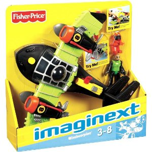 Figura Imaginext Sky Racers Aviao Escorpiao dos Ventos T5120