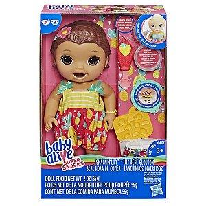 Boneca Baby Alive Lanchinhos Divertidos Morena Hasbro E5842