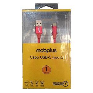 Carregador Cabo Usb-C Super Speed 1 Metro Vermelho MobPlus