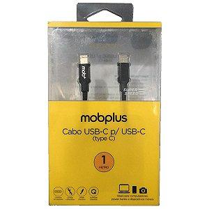 Carregador Cabo Usb-C para Usb-C 1 Metro Cor Preto MobPlus