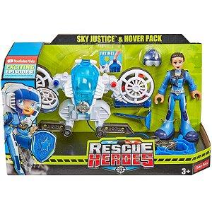 Boneco Equipe Rescue Heroes Sky Justice Fisher Price Gfw34