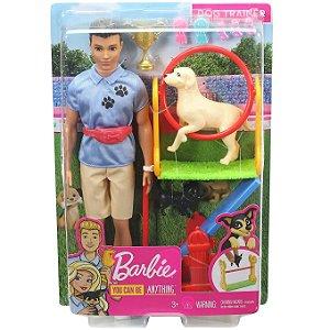 Barbie Profissoes Ken Adestrador de Cachorros Mattel Gjm32