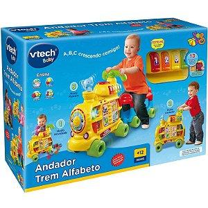 Brinquedo Andador Trem Alfabeto com Som e Luz VTech YesToys