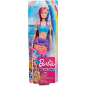 Boneca Barbie Dreamtopia Sereia de Cauda Rosa Mattel Gjk07