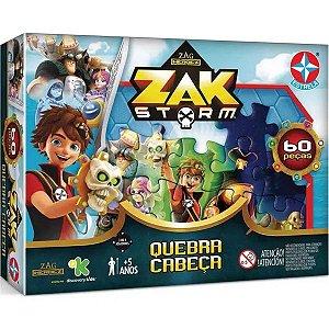 Quebra Cabeça Zag Heroes Zak Storm com 60 Peças da Estrela