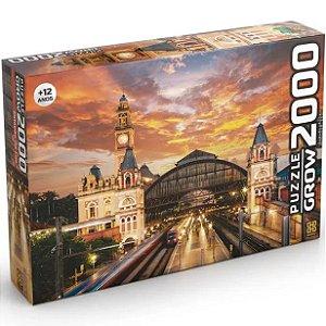 Quebra Cabeça Puzzle Estaçao da Luz de 2000 Peças Grow 03737