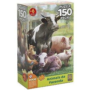 Quebra Cabeça Puzzle Animais da Fazenda 150 Peças Grow 03751