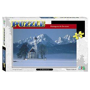 Quebra Cabeça Puzzle Paisagem de Inverno Nig Brinquedos 0291