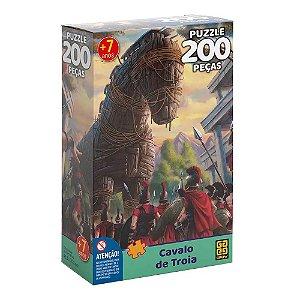 Quebra Cabeça Puzzle Cavalo de Troia 200 Peças da Grow 03755