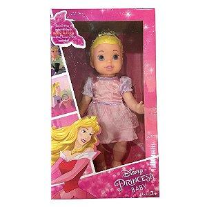 Boneca Disney Princesas Baby Aurora Vinil de Luxo Mimo 6425