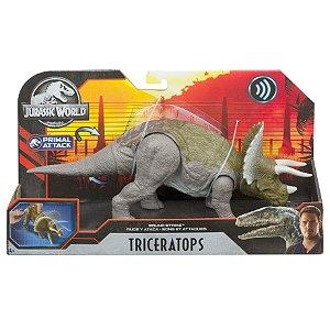 Figura Jurassic World Primal Attack Triceratops Mattel Gjn64