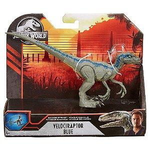 Figura Jurassic World Dino Rivals Velociraptor Blue Gcr54