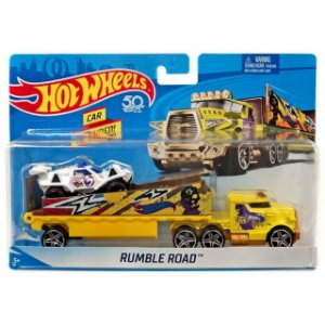 Hot Wheels Caminhões de Transporte Rumble Road Mattel Bdw51