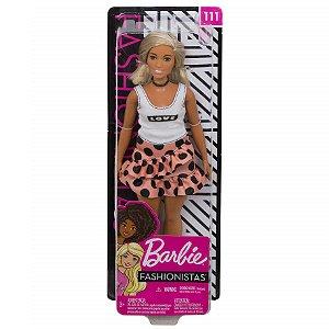 Boneca Barbie Fashionista Doll Look Modelo 111 Mattel Fbr37