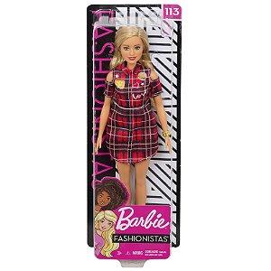 Boneca Barbie Fashionista Doll Look Modelo 113 Mattel Fbr37
