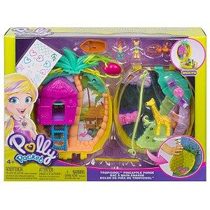 Polly Pocket Micro Playset Bolsa de Abacaxi Tropical Gkj63