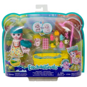 Boneca Enchantimals Petya Pig Hora do Banho da Mattel Gjx35