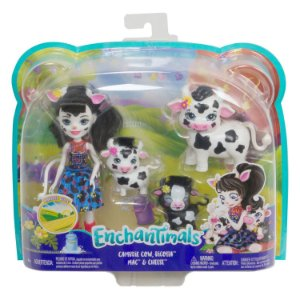 Boneca Enchantimals Pets Cambrie Cow e Ricotta Mattel Gjx43