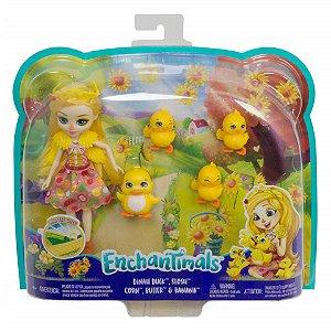 Boneca Enchantimals Pets Dinah Duck e Slosh da Mattel Gjx43