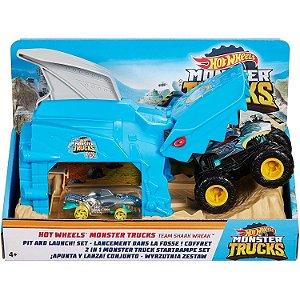 Hot Wheels Lançador Monster Truck Shark Wreak Mattel Gky01