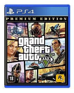 Gta 5 Grand Theft Auto V Premium Edition Ps4 Mídia Física