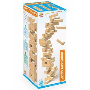 Jogo de Mesa Torre de Equilibrio com 54 Peças da Junges 735