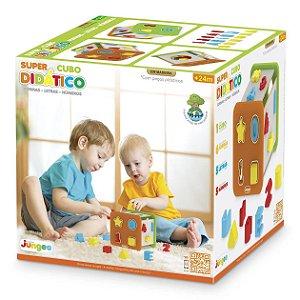 Brinquedo Infantil Super Cubo Didatico Multicor Junges 850