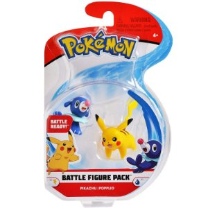 Figura de Batalha Pokemon Pack Pikachu e Popplio Dtc 4842