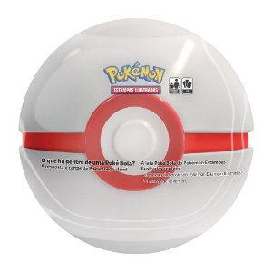 Pokemon Lata Porta Cards Pokebola Grande Bola Premier Copag