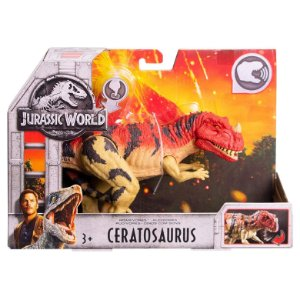 Figura Jurassic World Dinossauro Ceratosaurus Mattel Fmm23