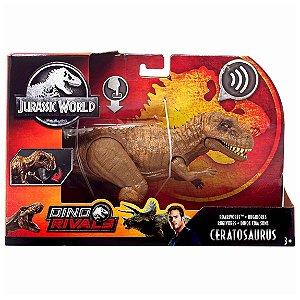 Figura Jurassic World Dino Rivals Ceratosaurus Mattel Fmm23
